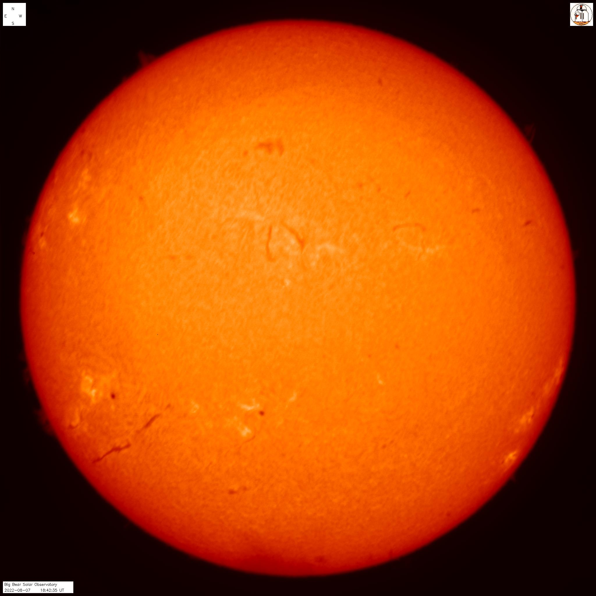 sunspot image from SDO