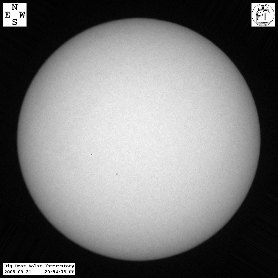 Latest Sun in White Light