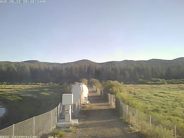 Big Bear Solar Observatory in the San Bernardino Mountains, looking north