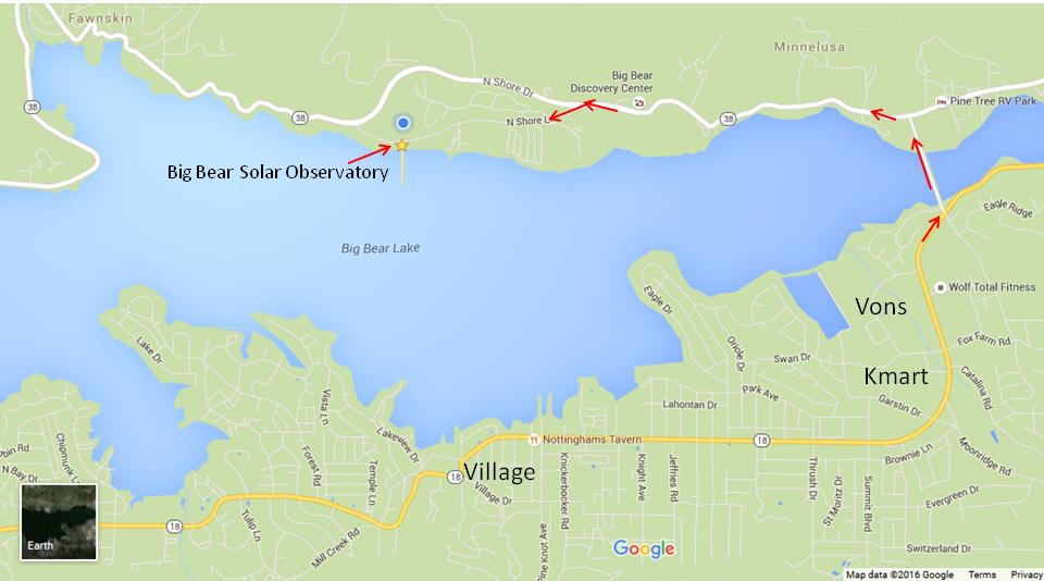 Big Bear California Map Google.Big Bear Solar Observatory